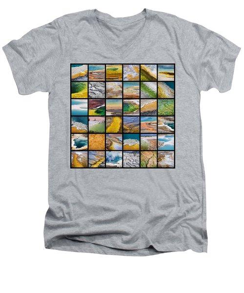 Yellowstone Colors Men's V-Neck T-Shirt
