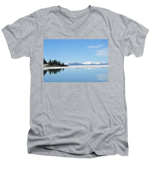 Yellowstone Lake In The Spring Men's V-Neck T-Shirt
