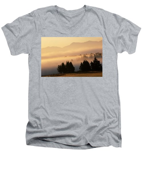Yellowstone Sunrise Men's V-Neck T-Shirt
