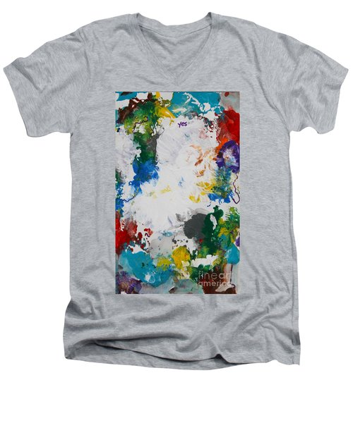 Yes Abstract Men's V-Neck T-Shirt