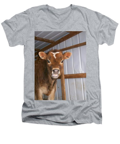 Men's V-Neck T-Shirt featuring the photograph Yes I'm Talking To You by Sara  Raber