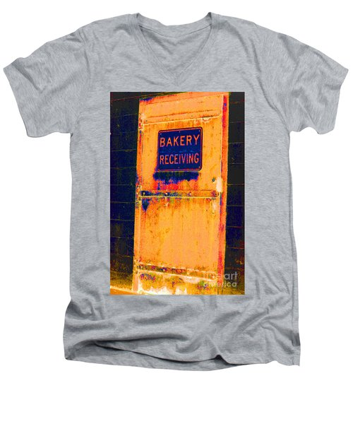 Men's V-Neck T-Shirt featuring the photograph Yesterday's Bread by Christiane Hellner-OBrien