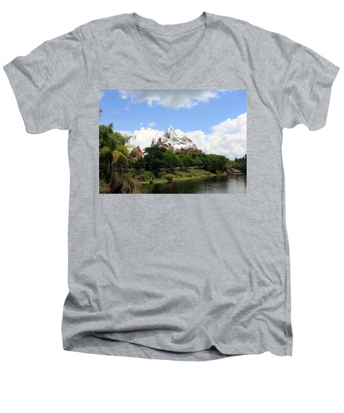 Men's V-Neck T-Shirt featuring the photograph Yeti Country by David Nicholls