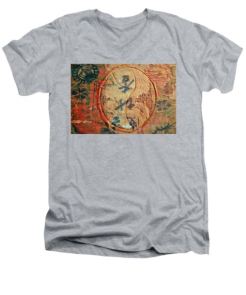 Yin-yang Expressions Men's V-Neck T-Shirt