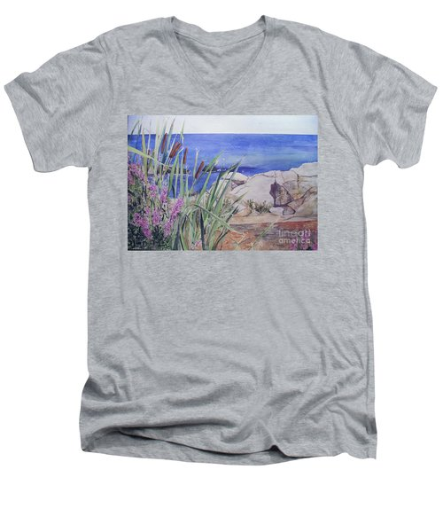 York Maine Men's V-Neck T-Shirt