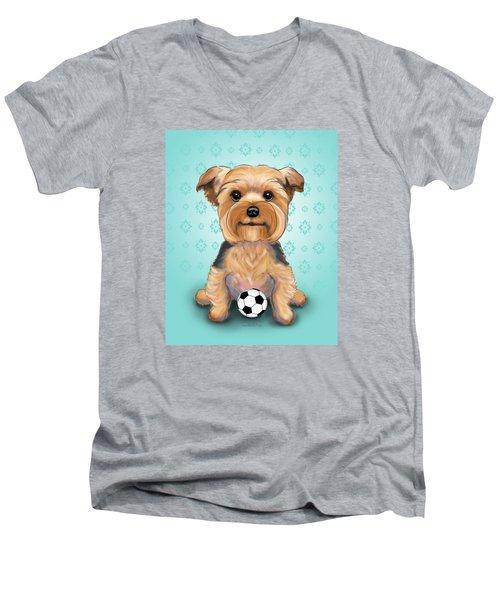 Yorkie  Baxter Hemenway Men's V-Neck T-Shirt by Catia Cho