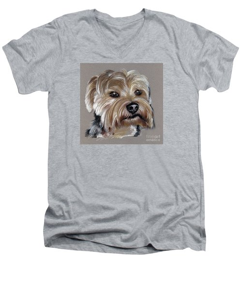 Yorkshire Terrier- Drawing Men's V-Neck T-Shirt