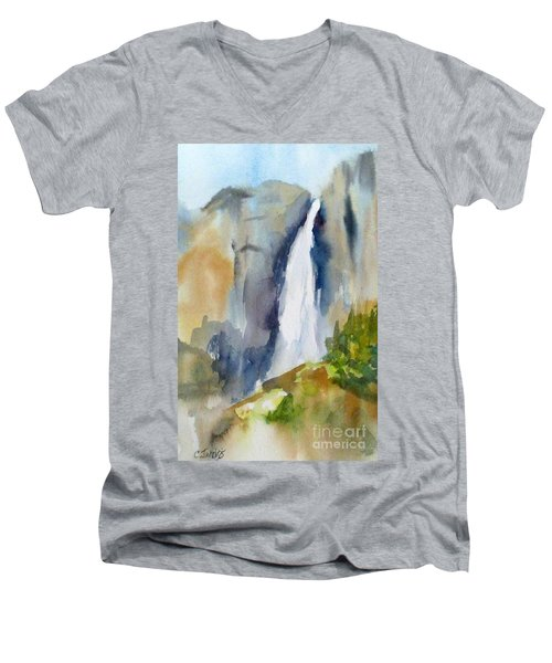 Yosemite Falls Springtime Men's V-Neck T-Shirt