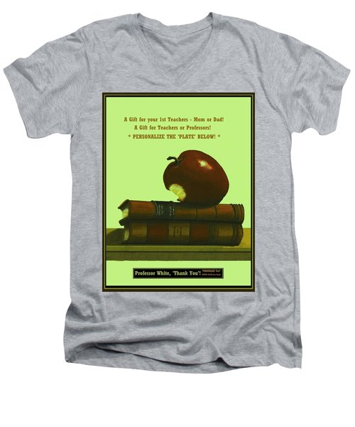 You Add Personalized Text On Plate  # 6 3 Men's V-Neck T-Shirt