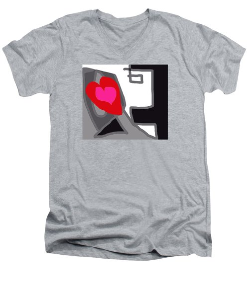You Are My Forever Valentine Men's V-Neck T-Shirt by RjFxx at beautifullart com