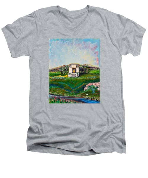 You Are The Temple Of God Men's V-Neck T-Shirt by Cassie Sears