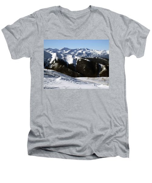 Men's V-Neck T-Shirt featuring the photograph You Can See Forever by Fiona Kennard