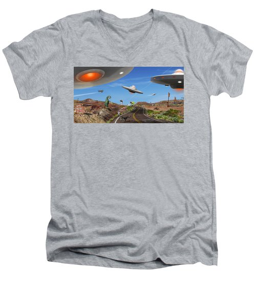 You Never Know . . . Panoramic Men's V-Neck T-Shirt