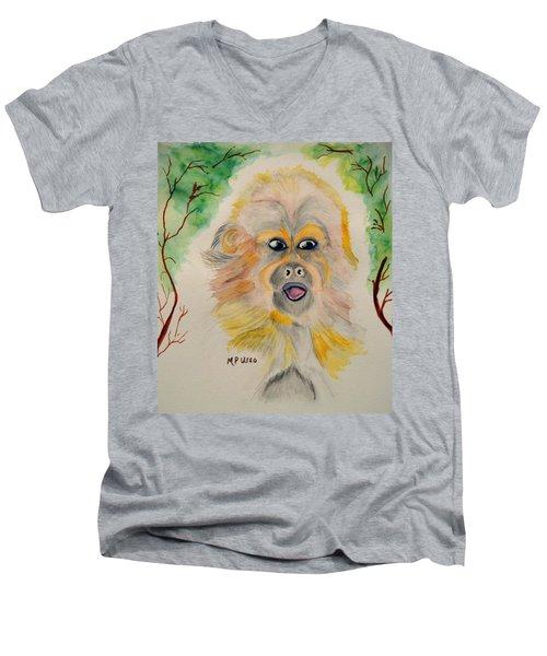 You Silly Monkey Men's V-Neck T-Shirt by Maria Urso