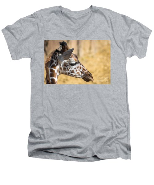 Young Giraffe Men's V-Neck T-Shirt