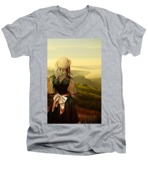 Young Traveller Men's V-Neck T-Shirt by Jaroslaw Blaminsky
