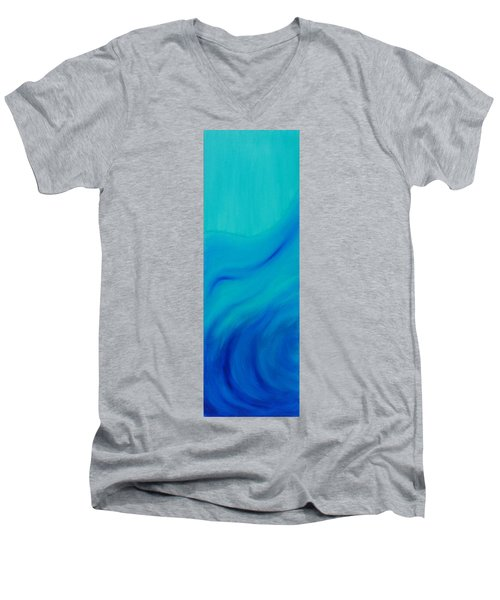Your Wave Mirrored Men's V-Neck T-Shirt by Mark Minier