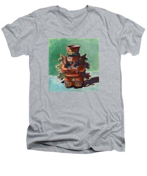 Yucatan Prince Men's V-Neck T-Shirt by Pattie Wall
