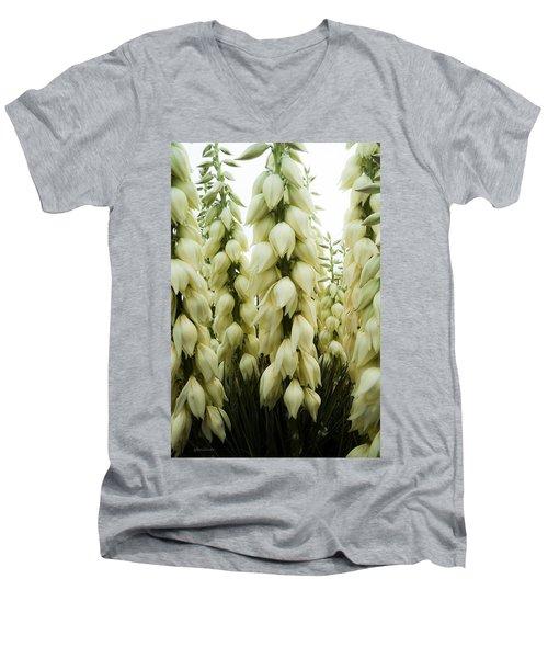 Yucca Forest Men's V-Neck T-Shirt by Steven Milner