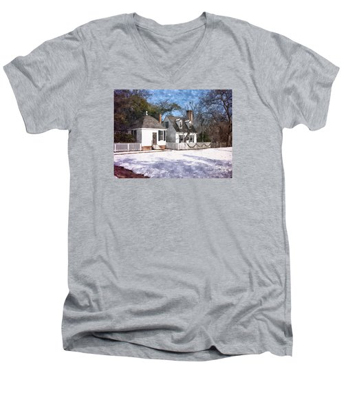 Yule Cottage Men's V-Neck T-Shirt