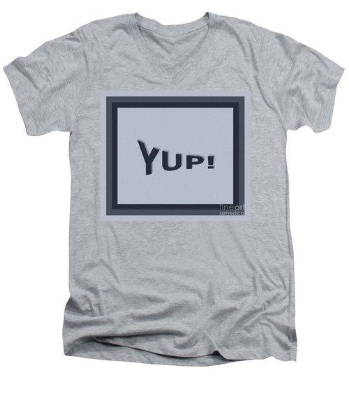 Yup Colorized Men's V-Neck T-Shirt