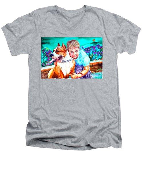 Zac And Zuzu Men's V-Neck T-Shirt