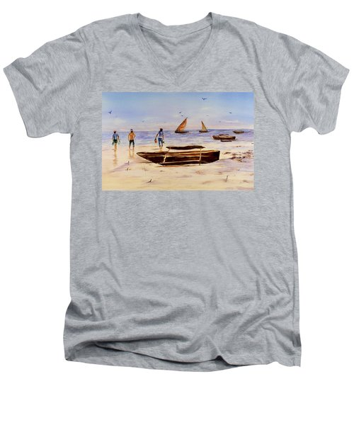 Zanzibar Forzani Beach Men's V-Neck T-Shirt
