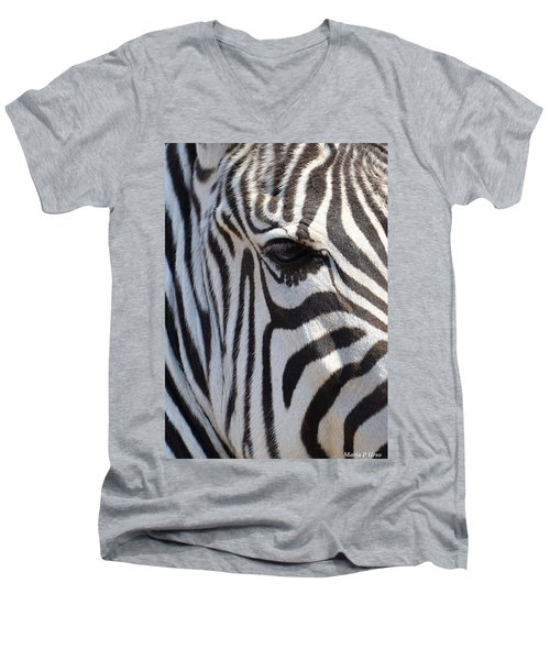 Zebra Eye Abstract Men's V-Neck T-Shirt