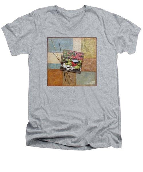 Zen Tranquility Men's V-Neck T-Shirt