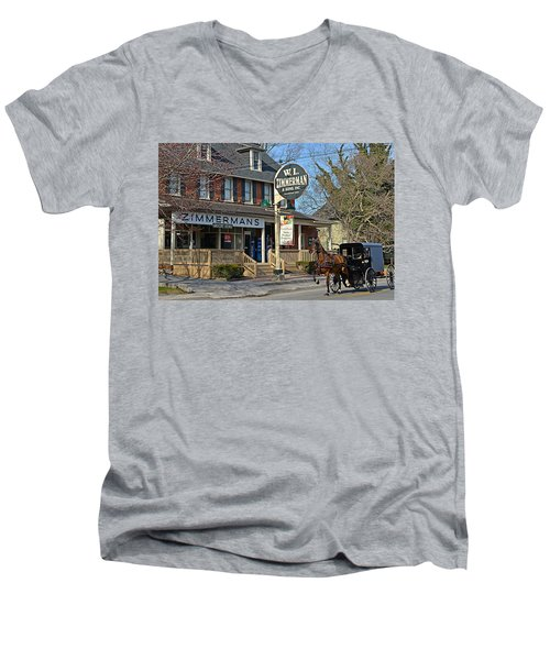 Zimmerman's Store Intercourse Pennsylvania Men's V-Neck T-Shirt