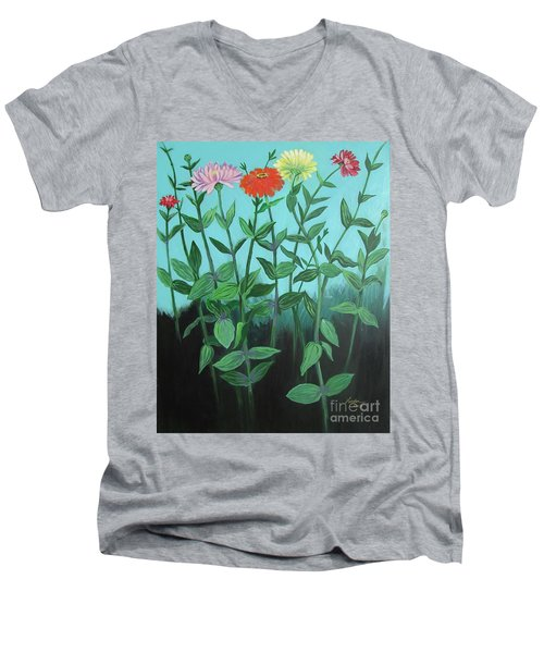 Zinnia Parade Men's V-Neck T-Shirt
