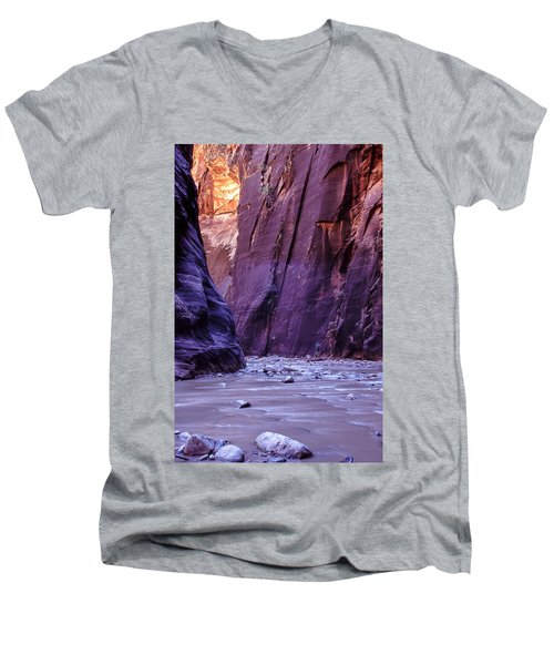 Zion Narrows Men's V-Neck T-Shirt