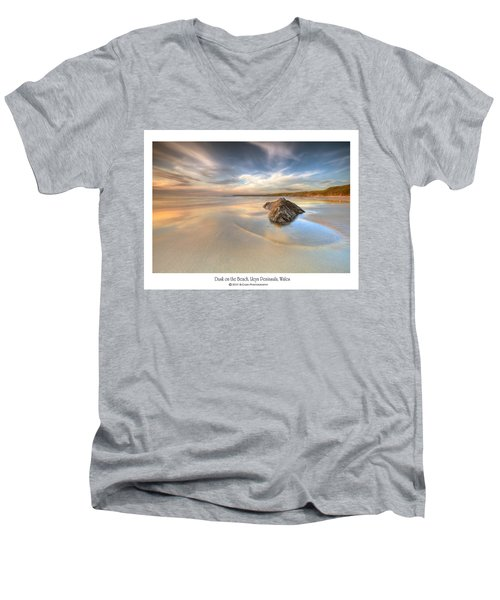 Dusk On The Beach Men's V-Neck T-Shirt