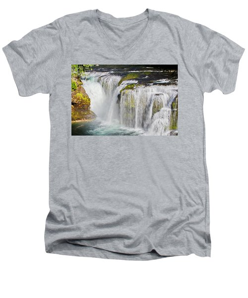 Lower Falls On The Upper Lewis River Men's V-Neck T-Shirt