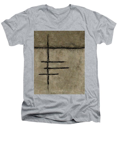 0292 Abstract Thought Men's V-Neck T-Shirt
