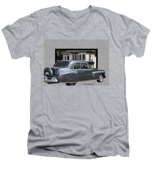 1947 Lincoln Continental Coupe Men's V-Neck T-Shirt by Betty Northcutt