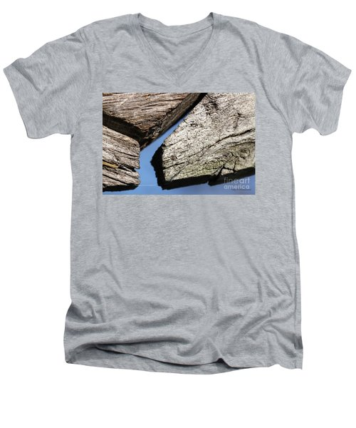 Abstract With Angles Men's V-Neck T-Shirt