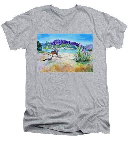 Texas - Along The Rio-grande Men's V-Neck T-Shirt