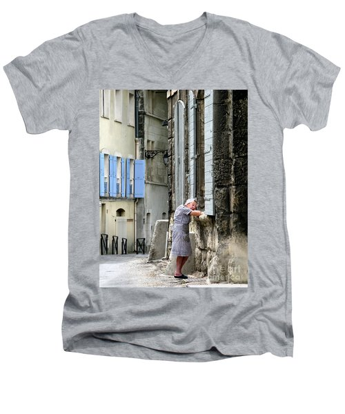 Men's V-Neck T-Shirt featuring the photograph Another Nap.arles.france by Jennie Breeze