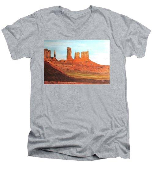 Arizona Monuments Men's V-Neck T-Shirt