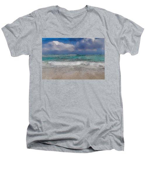 Beach Background Men's V-Neck T-Shirt