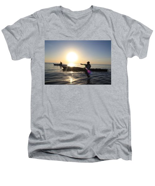 Coasting On Waters Light Men's V-Neck T-Shirt