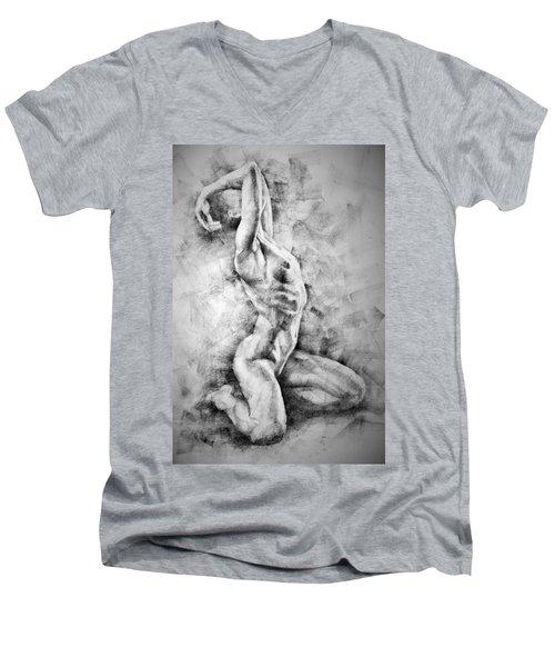 Erotic Sketchbook Page 3 Men's V-Neck T-Shirt