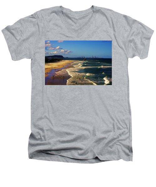 Gold Coast Beaches Men's V-Neck T-Shirt