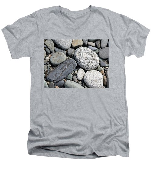 Men's V-Neck T-Shirt featuring the photograph Healing Stones by Cathie Douglas