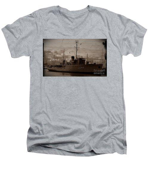 Men's V-Neck T-Shirt featuring the photograph Hmas Castlemaine 2 by Blair Stuart