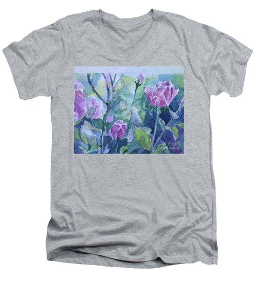 How Did The Rose Men's V-Neck T-Shirt by Jan Bennicoff