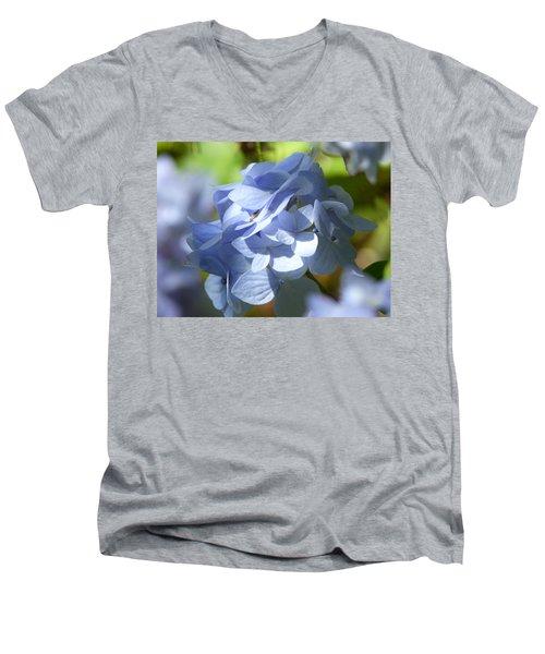 Men's V-Neck T-Shirt featuring the photograph Hydrangea by Lynn Bolt