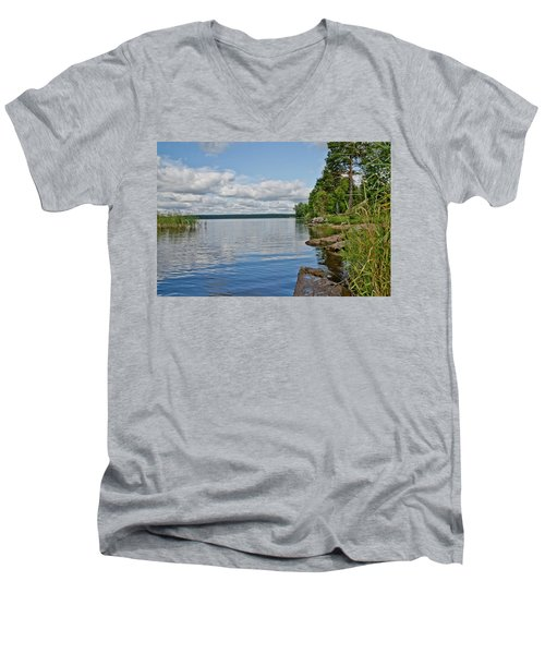 Lake Seliger Men's V-Neck T-Shirt