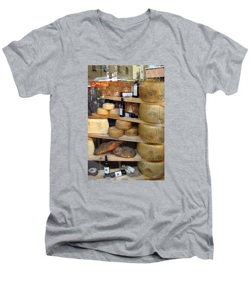 Parmesan Rounds Men's V-Neck T-Shirt by Carla Parris